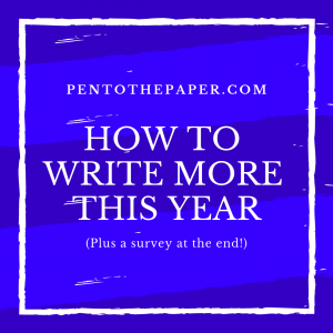 If you're looking for a blog that gets you to write more this year, I'd love yo help you out. I've got a survey you can fill out so I can deliver the content you want.
