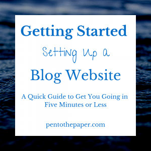 It's very easy setting up a blog website. I'm going to help you get going in five minutes or less!