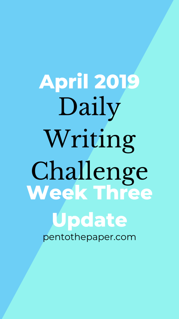 When you're trying to write every day, at first it's pretty overwhelming to keep up. In today's blog post, I talk about my challenge doing this, and why taking breaks (like I did this past week) helps my brain grow stronger and more creative.