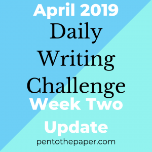 Today's post is an update to my April 2019 writing challenge (week two). Read why I'm going slow and steady. #writing #writingchallenge